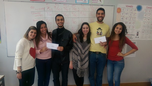 English Language School Quiz Winners