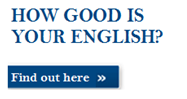 Test your level of English with our Language test