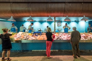 Fish stall at the English Market in Cork City
